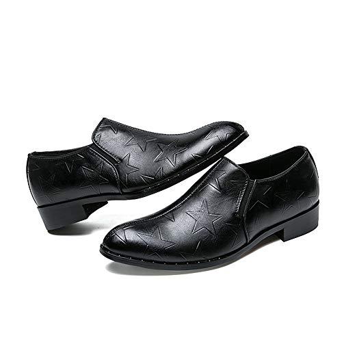 Zapatos Negocios Pedal Hombres Simples Oxford Negro Retro Jialun Classic Formales Imprimen Moda Los Un Para zapatos Con Cómodos Se Casual qAwaBESTn
