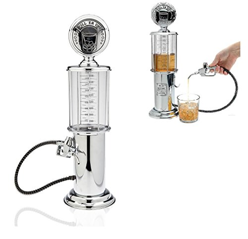 Gas Pump Whiskey/Bourbon Decanter - Liquor Dispenser for Vodka, Rum, Wine, Tequila or Scotch Decanter is Stainless