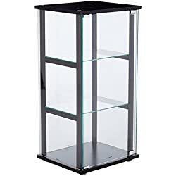 Coaster Contemporary Black and Glass Curio Cabinet
