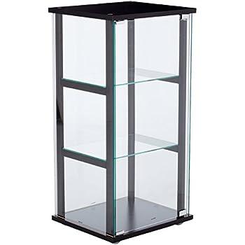 Coaster Contemporary Black And Glass Curio Cabinet