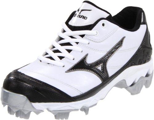 Mizuno Mujeres 9-spike Finch 5 Softball Cleat Blanco / Negro