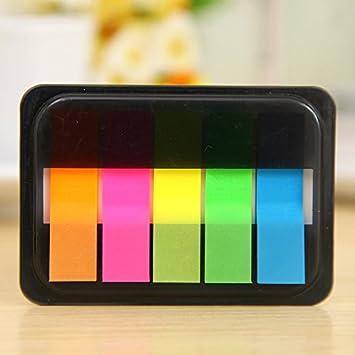 XXAICW Notas las cajas telescópicas pueden rasgar colores fluorescentes Mascota Pequeños estudiantes transparente práctica oficina de correos 5 Establecer: ...
