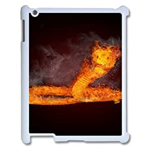 Ipad2,3,4 Flame Phone Back Case Customized Art Print Design Hard Shell Protection TY100668