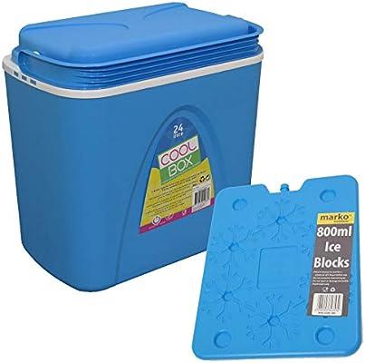 Nevera portátil y 800 ml bloques de hielo refrigerador tamaño Cool ...