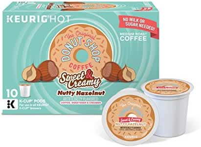 The Original Donut Shop Keurig Single-Serve K-Cup Pods, Sweet and Creamy Hazelnut Medium Roast Coffee, 60 Count (6 Boxes of 10 Pods)