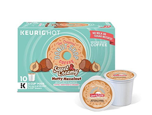 Sweet Coffee Keurig - The Original Donut Shop Keurig Single-Serve K-Cup Pods, Sweet and Creamy Hazelnut Medium Roast Coffee, 60 Count (6 Boxes of 10 Pods)