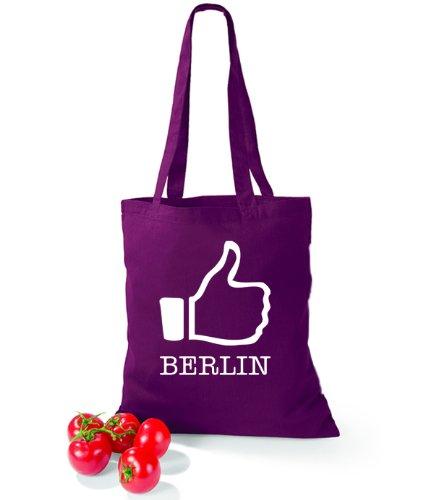 Artdiktat Baumwolltasche I like Berlin Burgundy