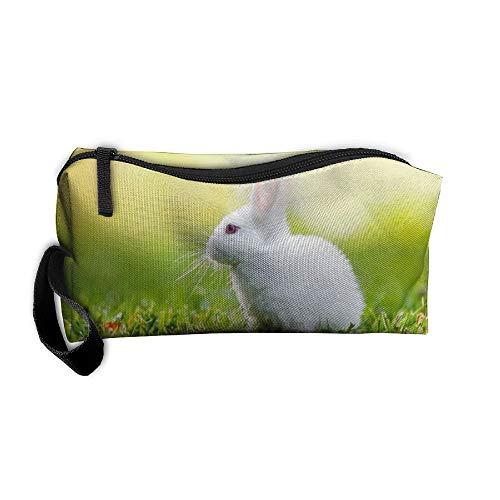 Jessent Coin Pouch Pictures Rabbits Pen Holder Clutch Wristlet Wallets Purse Portable Storage Case Cosmetic Bags Zipper ()