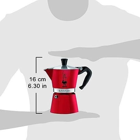 Rojo, 3 tazas, Aluminio, 1 pieza Cafeteras italianas s Bialetti Moka Express Rojo