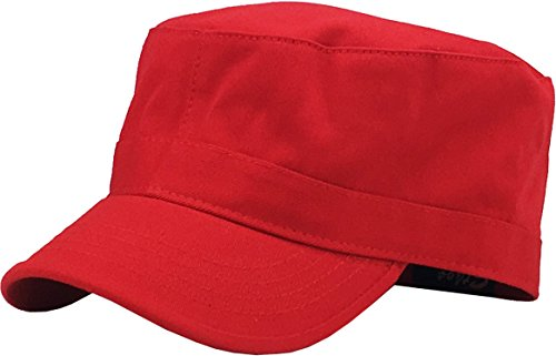 - KBK-1464 RED S Cadet Army Cap Basic Everyday Military Style Hat