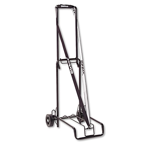 Stebco 390002BLK Luggage Cart 125lb Capacity 13 x 10 Platform Black Steel ()