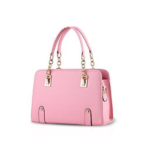 NICOLE&DORIS new women fashion chain shoulder bag messenger bag purse Light Pink
