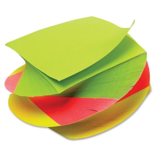 TOPS 3 x 3 Inches Neon Twirl Memo Pads, Assorted Colors, 400 Sheets/Pad, Pack of 12 (99529)