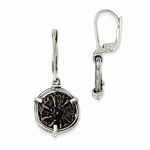 top-10-jewelry-gift-sterling-silver-antiqued-widows-mite-coin-leverback-earrings