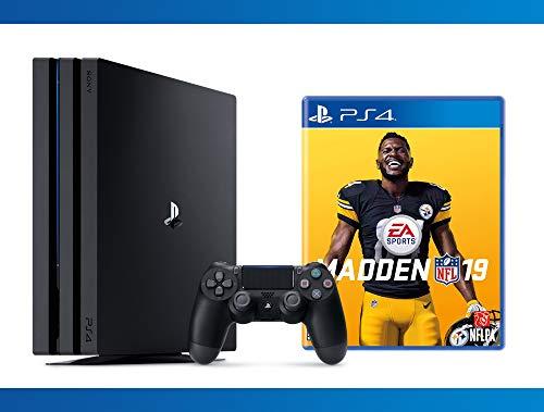 PlayStation 4 Pro 1 TB Console + Madden 19 + NBA 2K17 Bundle ( 3 – Items )