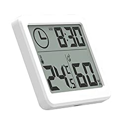 SODIAL Multifunction Automatic Electronic Temperature and Humidity Monitor Clock 3.2inch Large LCD Screen