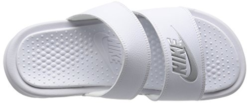 Sandalo Nike Donna Benassi Duo Ultra Slide Bianco / Argento Metallizzato