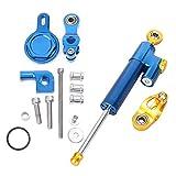 Newsmarts Motorcycle Steering Damper Stabilizer Steering Damper Set with Mounting Bracket Kit for Yamaha YZF R1 1999-2005