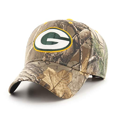 OTS NFL Green Bay Packers Male Hickory All-Star Adjustable Hat, Realtree, One Size