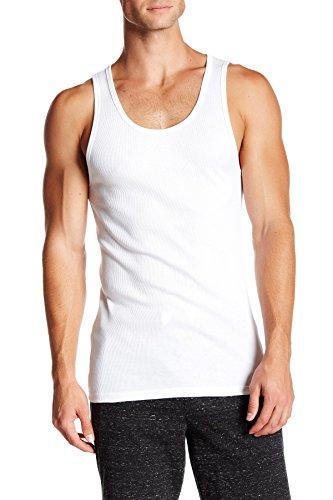Calvin Klein Men`s Classic Ribbed Tank 3-Pack (White(NM9070X-100)/White/White, X-Large)