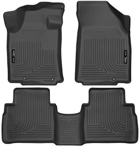 Husky Liners 99621 Fits 2016-20 Nissan Maxima Weatherbeater Front & 2nd Seat Floor Mats , Black