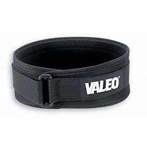 Valeo 6 Inch VLP Performance Low Profile Hand Washable Lifting Belt For Men and Women