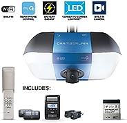 Chamberlain B6765 Secure View Video Smart Garage Opener,Blue