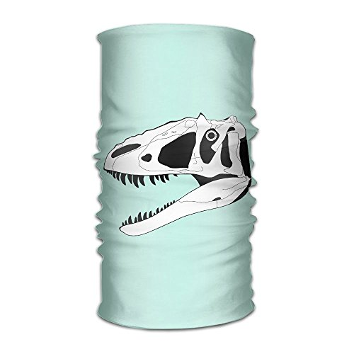 (Unisex Stylish T Rex Skeleton Cool Quick Dry Microfiber Headwear Outdoor Magic Bandana Neck Gaiter Head Wrap Headband Scarf Face Mask Ultra Soft Elastic Handscarf)