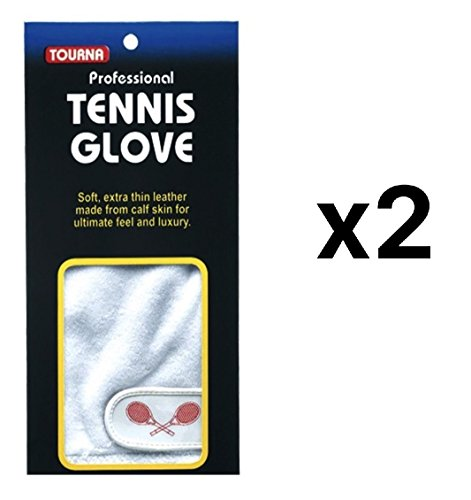 Unique Sports Tourna Womens Youth Half Finger Tennis Glove Sheepskin Right Hand MED (2-Pack) (Tennis Fingers)