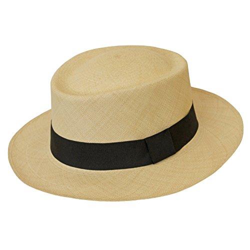 Tumia - Fino Dumont Style Panama - Premium Quality - Natural with Black Band. 60cm. by Tumia Panama Hats