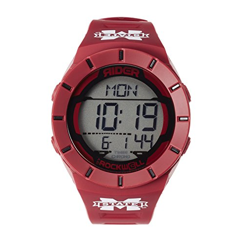 College Mississippi State Bulldogs Watches (NCAA Mississippi State Bulldogs Men's Coliseum Watch, Adjustable, Maroon)