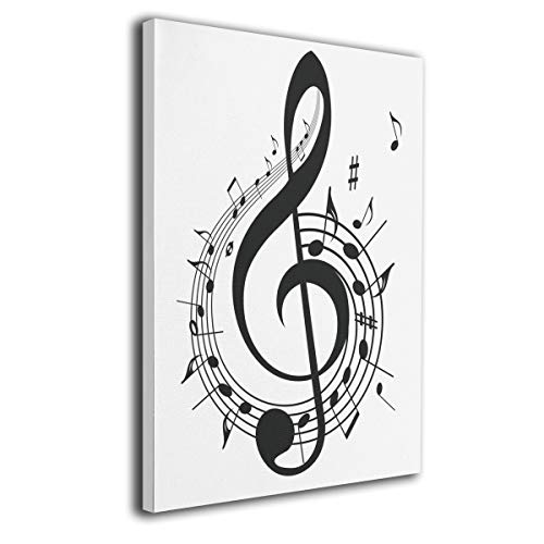 - Warm-Tone Art Music with G-Clef Key Canvas Prints Wall Art Oil Paintings for Living Room Dinning Room Bedroom Home Office Modern Wall Decor 16x20 inch