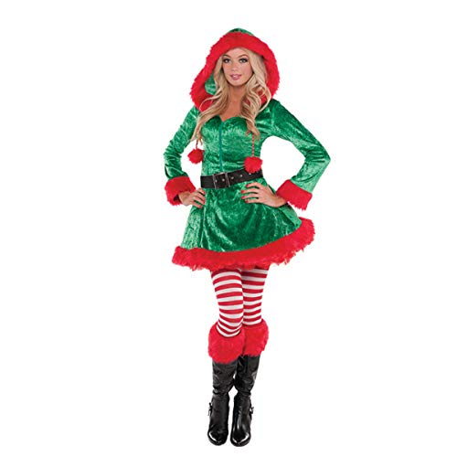 Green Sassy Elf Costume - Medium -