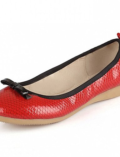 Bailarina cn40 5 ZQ cn40 us7 Patentado Punta 5 Tac¨®n eu39 uk6 red Mujer 5 5 us8 red Casual us8 eu38 Bailarinas 5 Blanco Redonda red Plano cn38 eu39 Cuero Negro 5 uk6 Rojo uk5 ZXXqH