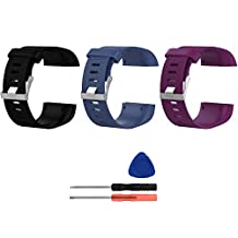 Replacement Bands for Fitbit Surge, Small, Silicone Wristbands/straps for Fitbit Surge Fitness Superwatch, 3pcs