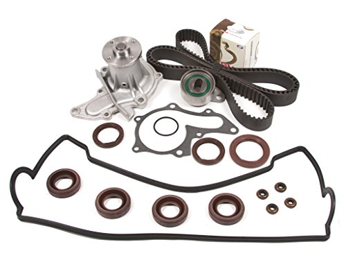 Price comparison product image Evergreen TBK236VCT 93-97 Geo Prizm Toyota Corolla 1.6L 4AFE Timing Belt Kit Valve Cover Gasket Water Pump