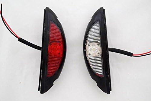 fuoristrada 12//24 V 2 luci di ingombro laterali a LED camion per SUV autocaravan Colore: rosso//bianco rimorchi camper