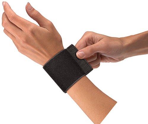 Mueller Elastic - Mueller Wrist Support withloop Elastic, Black, One Size