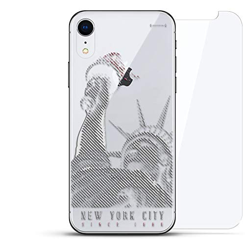 Lujosa Placa Trasera de Vidrio Templado Invisible, diseño Fresco, protección 360 Bundle Skin para iPhone EXR – Claro NY...