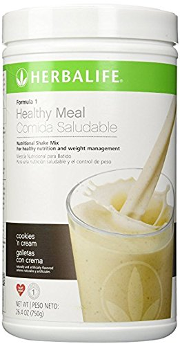 - Herbalife F1 Cookies and Cream Shake Mix, 26.4 ounces