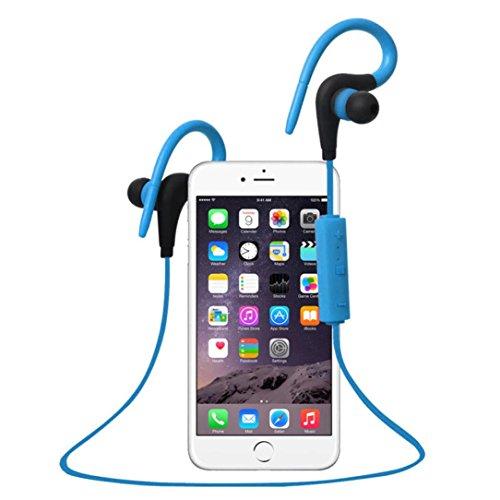 TOOPOOT Bluetooth Wireless In-Ear Stereo Waterproof Sports Headphones (Blue1)