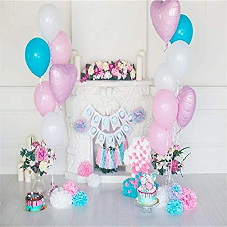 Birthday Party Party Balloon Flower Decoration Photo Studio Color : 6, Size : Thin Cloth 180x180cm PPJY Birthday Photography Background Photo Studio Photography Background