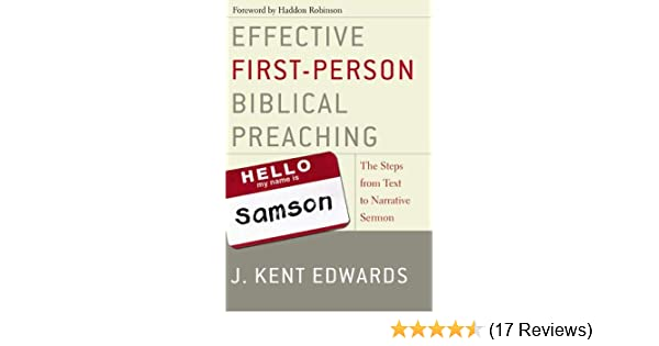Effective First-Person Biblical Preaching: The Steps from Text to
