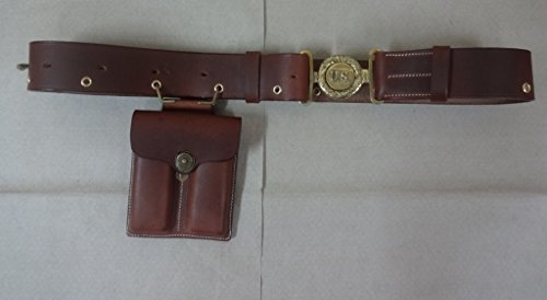 (warreplica WWII US Officer Belt with Double Mag. Pouch for Colt 1911 - Reproduction)