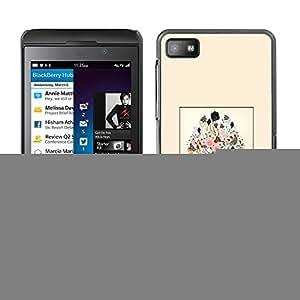 Caucho caso de Shell duro de la cubierta de accesorios de protección BY RAYDREAMMM - Blackberry Z10 - Art Blossoming Painting Design