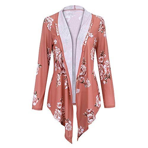 Price comparison product image BETTERUU Women Winter Long Sleeve Printing Plus Size Open Blazer Cardigan Coat