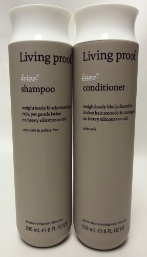 Living Proof No Frizz Shampoo and Conditioner Set, 2 Count ()