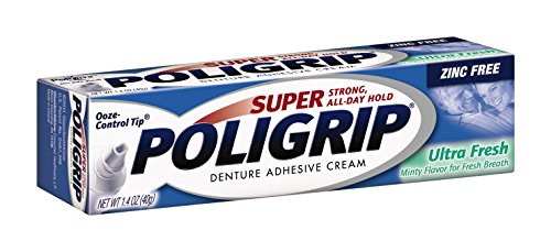 Super Poligrip Ultra Fresh Mint Flavor Zinc Free Denture Adhesive Cream, 1.4 ounce (Pack of 6) - http://coolthings.us