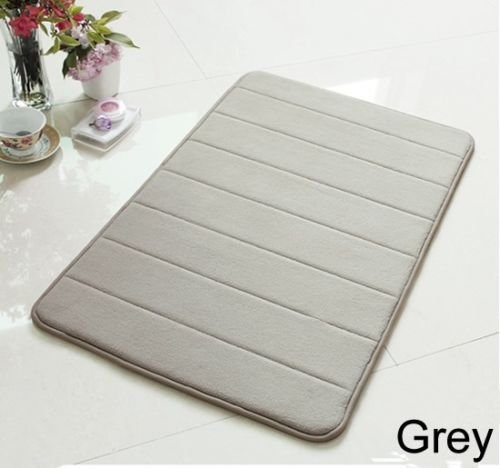 "24"" Non-Slip Back Rug Soft Bathroom Carpet Memory Foam Bath Mat Gray New"