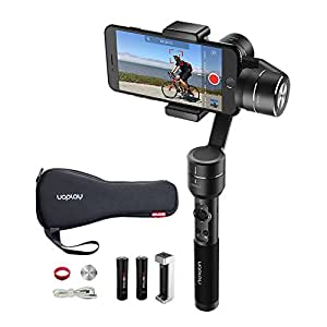 OFFICIAL AIbird Uoplay2 3 Axis Handheld Universal Smartphone Steady Gimbal Stabilizer for iPhone 7 and 7 Plus Samsung S5,S6,S7 and GoPro Hero 3 4 5/other Sports Action Camera of Similar Size